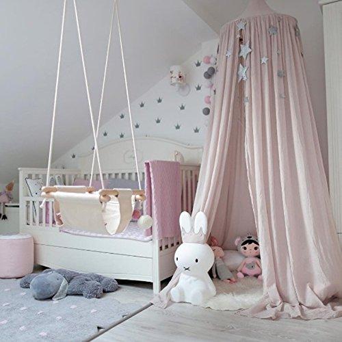 hongfei Ropa de cama de bebé Cúpula Redonda Canopy Kids Play Tienda Colgando Mosquitero Cortina Para Bebés y Niños Lectura Jugar Sleeping Room Decoration