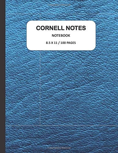 Cornell Notes Notebook, 8.5 X 11, 100 PAGES: Elite Student Note Taking System