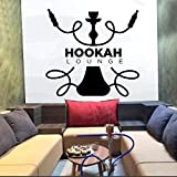 Hookah Lounge Etiqueta de la Pared Cita Arte Pared calcomanía Pared Vinilo decoración Ventana decoración Hookah Shop patrón de Color sólido