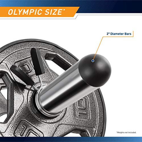 Marcy Olympic Hollow Bar Kit Chrome Curl Bar Dumbbell Handles and Spring Collars ODC-21