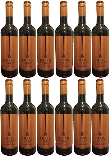Rosso Nobile Al Cioccolata (12 X 0,75 L) - Aromatisierter Wein 10% Vol.