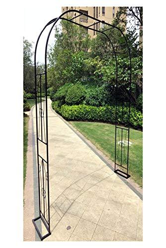 HLMBQ Arco de metal, plantas de escalada de jardín nupcial decoración cenador, cenador estable blanco, 120 x 240 cm/180 x 240 cm pérgola