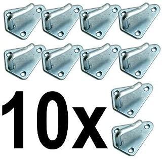 Bulk Hardware BH00084 Paquet de 25 Crochets pour cadre num/éro 3 /électro-laiton /à fixation double