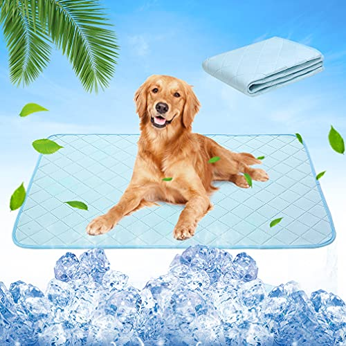 Dog Self Cooling Mat - Cooling Pads for Dogs, Washable Pet Chill Out Blanket Bed Mats, Waterproof Super Water Absorption Machine Washable Reusable Dog Pee Pads for Summer, Crate Mats for Pet Playpen
