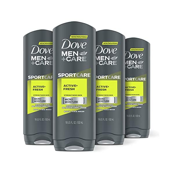 Dove Men+Care Sport Body and Face Wash for Fresh, Clean Skin Active and Fresh Effectively...