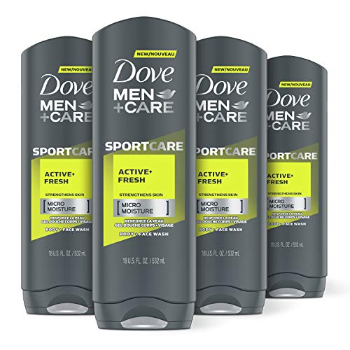 DOVE MEN + CARE Sport Body and Face Wash for Fresh, Clean Skin Active and...