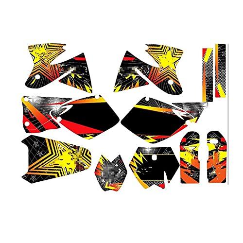 Tatumyin Pegatinas de Motocicletas Calcomanías Kits Gráficos para K*T*M SX MXC 125 250 300 380 400 520 1998-2000 hnszf (Color : As Shown)