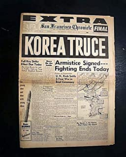 Displayable issue on the end of the Korean War - SAN FRANCISCO CHRONICLE, EXTRA, July 27, 1953