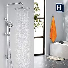 Système de douche homelody sans robinets Kit de douche à la pluie, avec douche de transition Colonne de douche avec douche de tête kit de douche pour salle de bain