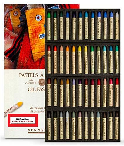 Sennelier Pastels Oil 48 Colors - Sennelier Senurie Set di Colori Pastello 48 Olio Artistic Quality (Francia Import)