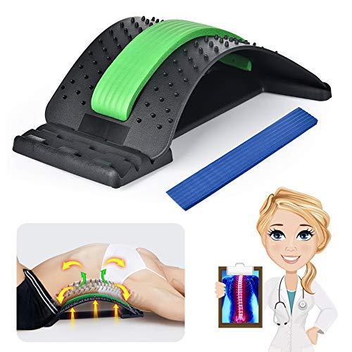 MOFAJIANG Rückenstrecker Rückenmassage Unterstützung Rückendehner Fitness Back Stretcher Gerät zur Muskelverspannungen Haltungskorrektur,Rückenschmerzlinderung,Massagegerät Stützausrüstung einstellbar