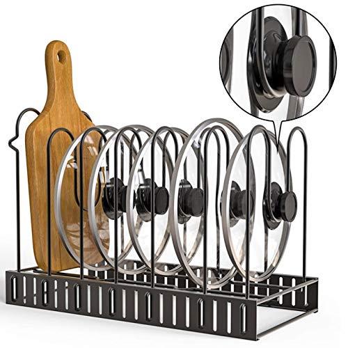 51csMIc  JL. SL500  - GFDFD Multi-funtion Pot Pan Lagerregal 5 Ebenen Pot Bratpfanne Deckel Lagerregal Organizer Küche Kochgeschirr Standhalter
