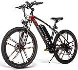 RDJM Bici electrica SM26 Bicicleta de montaña eléctrica for Adultos, 350W 21 Velocidad E-Bici 48V 8Ah de Iones de Litio de 3 Modos de Trabajo, 26' City Bike Bicicletas Hombres Mujeres