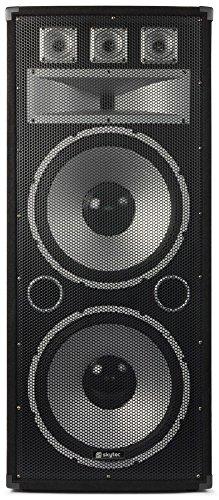 'Skytec TX215750W schwarz Lautsprecher–Lautsprecher (DJ, 1-voie, Boden, vor, 38,1cm (15), 750W)
