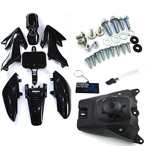 STONEDER Tank + Corps Noir Fender Kits pour Honda CRF50 Pit Dirt Trail Motor Bike