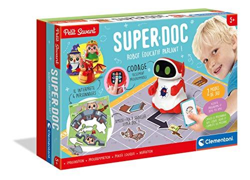 Clementoni- Petit Savant Super Doc - Juego Educativo programable - Robot de codificación, versión Francesa, 5 años en adelante, Multicolor (52499)