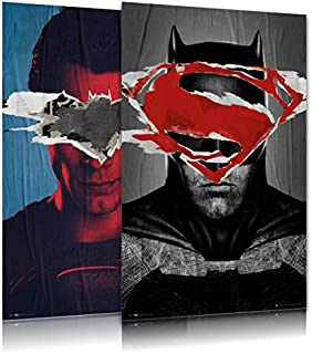 Batman vs. Superman: Dawn of Justice - Movie Poster/Print Set (Teaser Styles - Superman & Batman) (Size: 24 inches x 36 inches)