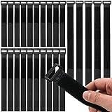 [page_title]-Honyear 25 Stück wiederverwendbare Klett-Kabelbinder, kabelbinder Klettverschluss, 3 verschiedene Längen, universell einsetzbar, schwarz