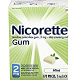 Nicorette 2mg Nicotine Gum to Quit Smoking - Flavored Stop Smoking Aid, Mint, 170 Count