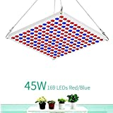 Toplanet 45W LED Grow Light Plant Grow Lamp Red Blue Light Plant Lamp...