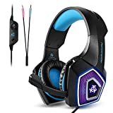 Gaming Headset, Tenswall PS4 Gaming Headset for Xbox One, PC, Switch, Tablet,Nintendo Laptop