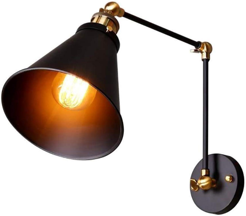 YXTK Küchen Wandlampe Mit Schalter, Teleskop Falten Kreative Eisen Leuchte Gips Wandleuchte Einfach Atemberaubende Wirkung Nachtlampe Nacht Balkon Korridor Treppe (Ohne Glühlampe)