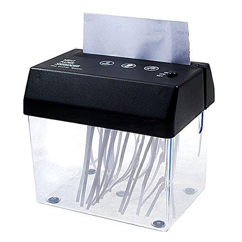 Kikar Tragbarer Mini-Aktenvernichter und -Brieföffner für den Schreibtisch, A6-Format–USB-/Batterie-/Netzbetrieb