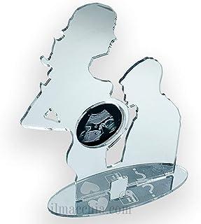Porta ecografia Mamma incinta cornice coppia in plexiglass a specchio con incisione personalizzata