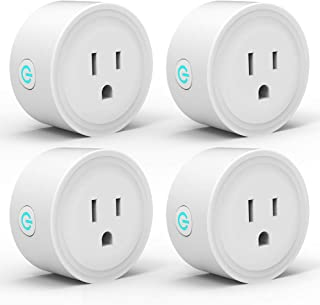 Smart Plug WiFi Outlet 4 Pack Work with Alexa Google Home/IFTTT, Smart Life APP Remote Control Socket Timer/ON/OFF Light/Home Device, ETL FCC Listed(Avatar Controls)