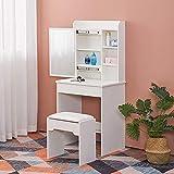 SPMDH Tocador Dormitorio de Estilo Chica Moderna con cajones y Compartimentos de tocador,1 Drawer