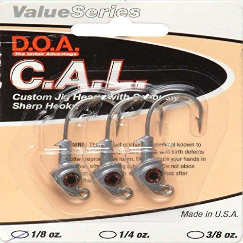 D.O.A. Lures 1/8oz Natural C.A.L Jig Heads