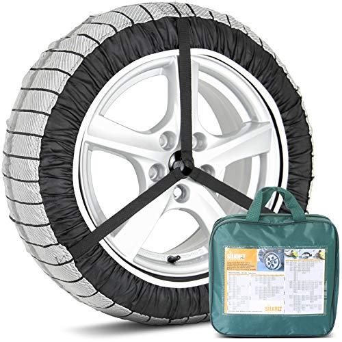 Lot de 2 housses Silknet pour pneus neige universels de taille 90 - S'adaptent aux pneus 255/40 R20, 265/30 R21, 285/35 R21 et plus
