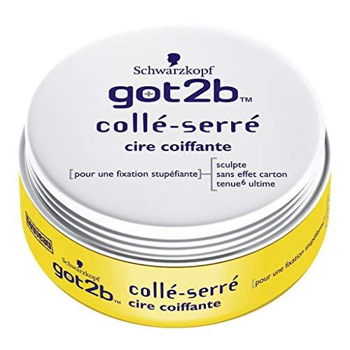 Schwarzkopf Got2b Collé-serré Cire Coiffante 75ml (lot de
