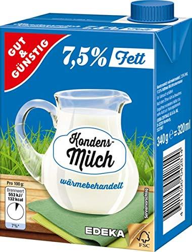 Gut und Günstig, Kondensmilch 7,5%, 16er Pack, 16 x 340 g