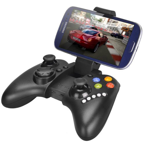 Megadream Wireless Android Game Controller Gamepad Joystick with Clamp Holder for Samsung Galaxy S9 S8 S7 S6 Note 9 8, Sony Xperia, HTC One, LG, Moto, Google, Nokia Lumia, Tablets PC, Max 6 inch Black
