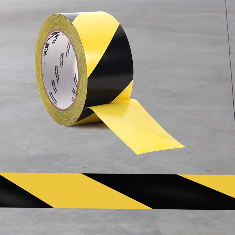 Yellow + Black Cerolopy Waterproof Safety Tape Warning Tape PVC Marking Tape 50mm x 33m Black//Yellow Safety Tapes Hazard Adhesive Marking Barrier Tape