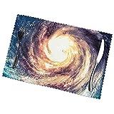 WANGJINGHUA Juego de manteles Individuales de 4 Posavasos con Estampado de Galaxia de la vía láctea del Universo para Mesa de Comedor, Antideslizantes, Resistentes al Calor, Lavables, 30X45CM