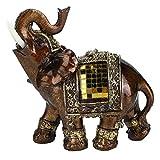 【Cadeau d'Avril】 Decoración de Elefante de la Suerte, pequeña y Bonita Mano de Obra Fina con Disfraces ceremoniales Figura de Elefante, no tóxico, Hermoso y(#2)
