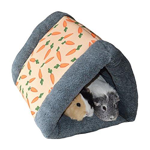 Rosewood 19616 Snuggles Snuggle 'n' Sleep Tunnel Mit Karotten-Print Für Kaninchen, Meerschweinchen, Frettchen Und Ratten