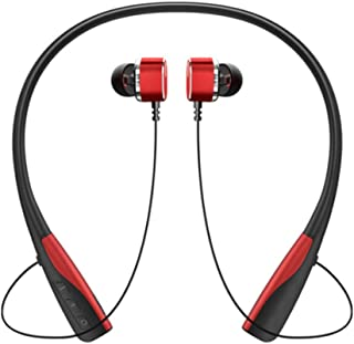 UKCOCO Trådlöst halsband hörlurar öronkrok hörlurar sport brusreducerande stereo mässing hörlurar vattentäta hörlurar head...