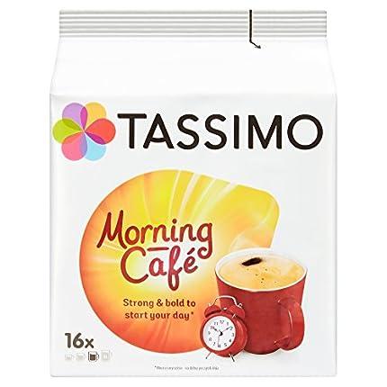 TASSIMO Morning Cafe Café Cápsulas de Café Paquete de 5, 80 Bebidas
