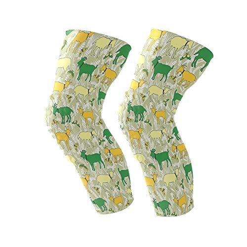 COOSUN gele schapen patroon knie beugel, knie compressie mouw ondersteuning voor hardlopen, artritis, meniscus scheuren, sport, gewrichtspijn verlichting en letsel herstel