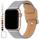 SUNFWR Compatible pour Bracelet Apple Watch 38mm 40mm 42mm 44mm,Top en Cuir Véritable Bracelet,Multicolore de Montre Compatible...