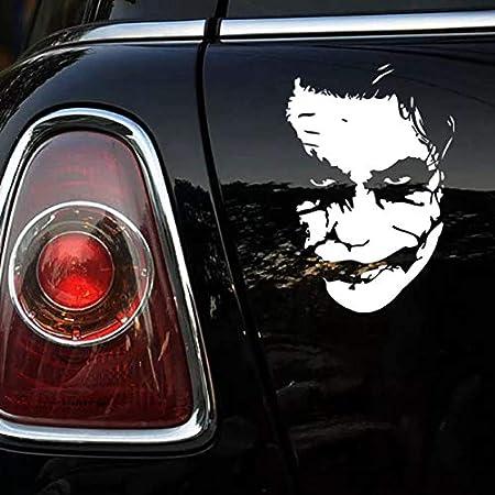 Brogtorl Joker Face Funny Car Sticker Vinyl Decal Silver Car Auto Stickers For Car Bumper Window Car Decorations 15 22cm Küche Haushalt