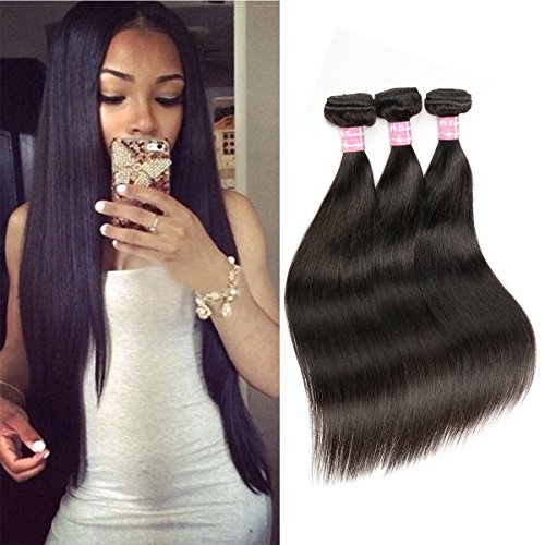 Beautier 6a Straight Hair 4 Bundles Virgin Unprocessed Human Hair Extensions Deal With Mixed...