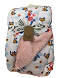 Chick Pea Pink Floral Sherpa Baby Blanket, 30 X 40 in