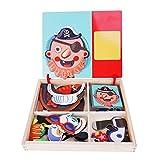 Puzzle de madera magnético con caja magnética para niños, juego educativo de madera, juguete educativo, tablero de dibujo de cumpleaños de 3 a 6 años, niños pequeños, niñas y niños