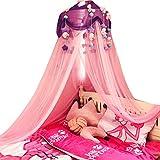 Betthimmel Mädchen, baldachin kinderzimmer mit Plüschtier Dekoration Prinzessin Moskitonetz für Mädchen, Kleinkinder und Erwachsene oder über Babybett Größe