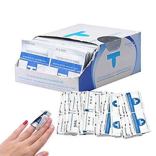 Nail Polish Remover Wraps, TRUBUY 200 Stück UV Gel Nagellackentferner Nagel Folie Soak Off Gel Polish Remover Pads Acryl Nagellack Entferner Tücher