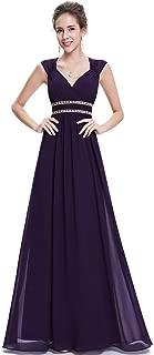 Ever-Pretty Women's V Neck Floor Length A Line Empire Waist Long Chiffon Elegant Evening Dresses 08697